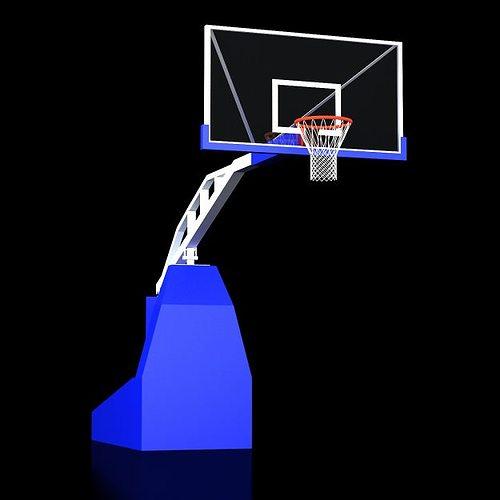 basketball backboard backstop 3d model max 1