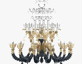 Black And Gold Sconce Lamp 3D model