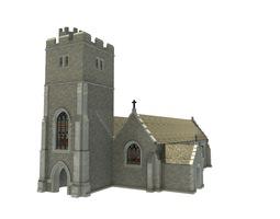 old church 3d asset VR / AR ready