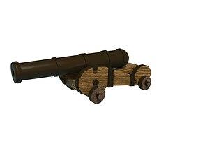 3D model VR / AR ready cannon