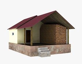 3D asset sauna bath bathhouse baths vaporarium lodge 3