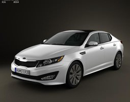kia optima k5 2011 3d model max obj 3ds fbx c4d lwo lw lws