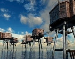 3D Maunsell Forts