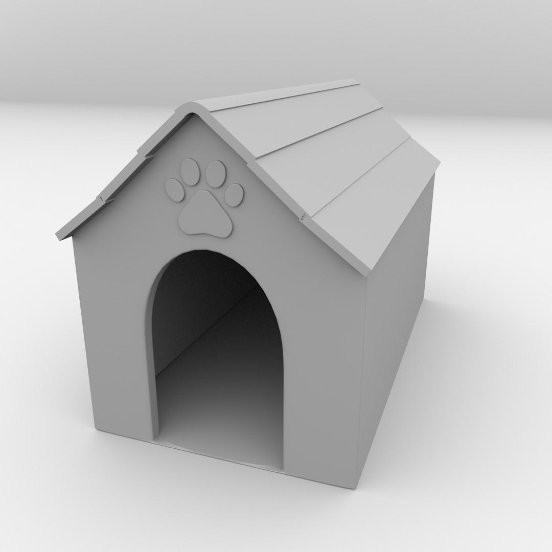 Dog House 3d Model 3ds Fbx Blend Dae 4