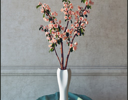 3D Branch with flowers
