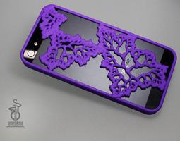 3d printable model fractal leaves iphone 5 case