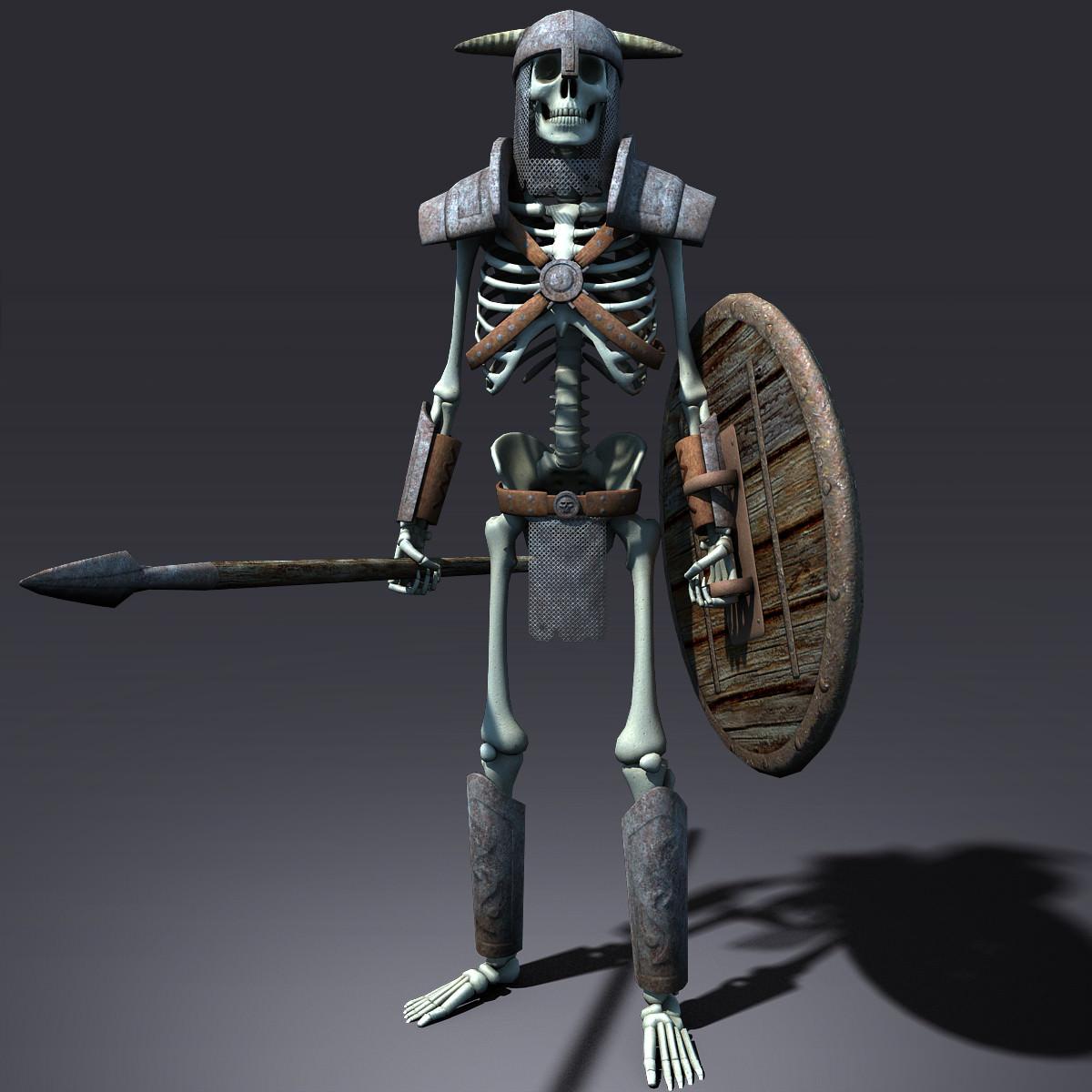 3D model Fantasy Skeleton VR / AR / low-poly MAX