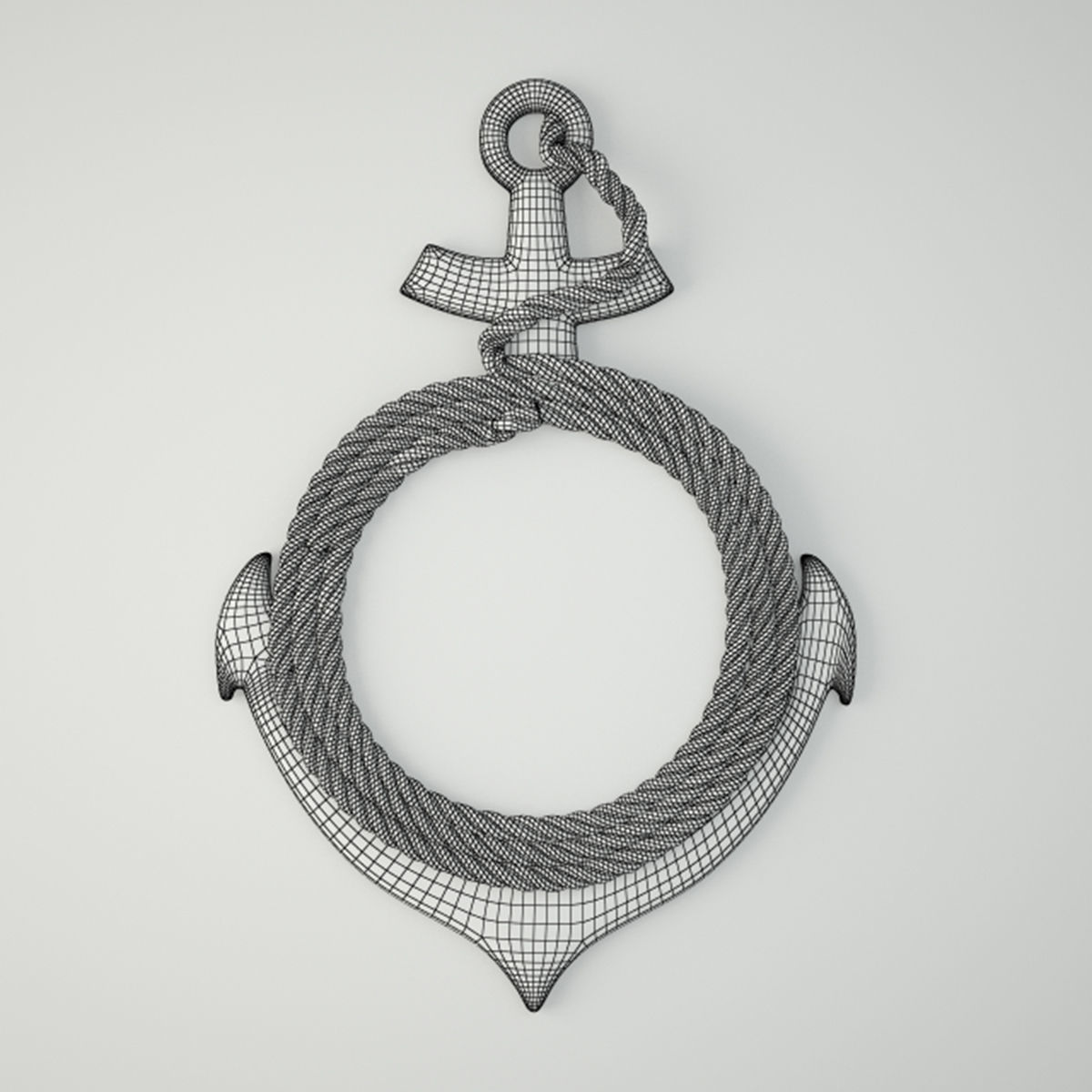 3d model anchor wall mirror with rope cgtrader anchor wall mirror with rope 3d model max fbx 2 amipublicfo Images