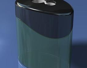 3D model Clear Plastic Pencil Sharpener