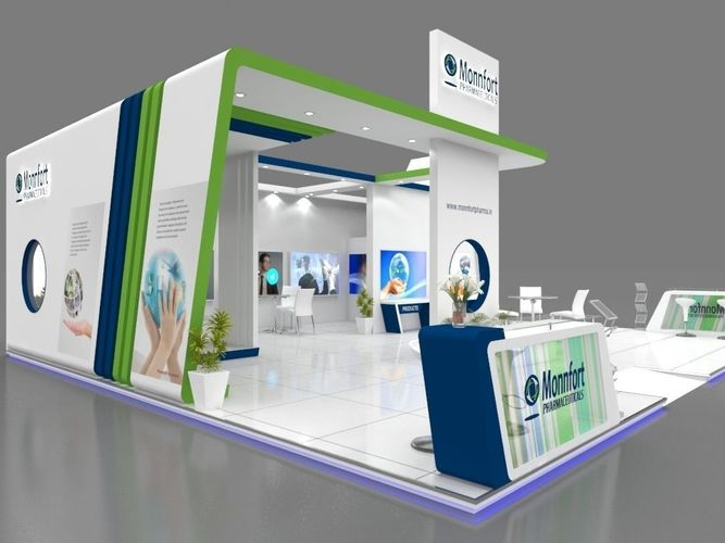 D Exhibition Design Free Download : Exhibition stall d model mtr sides open pharma