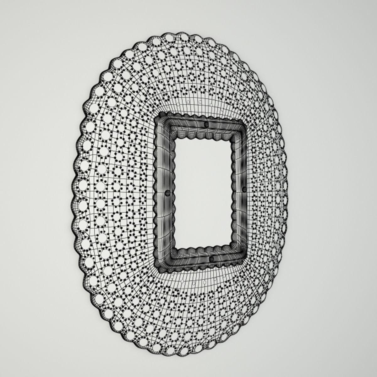 Pea Honeycomb Mirror 3d Model Max Fbx Unitypackage 4
