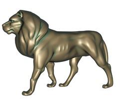 Lion bronze statue 3D printable model