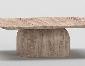 Modern wooden side table 3D model