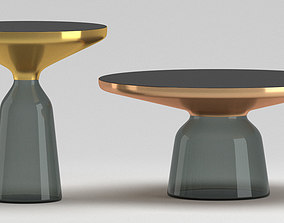Modern glass golden table 3D
