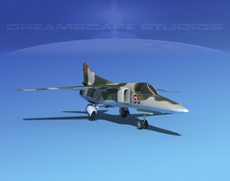 Mig-27 Flogger LP Russia 3D model rigged