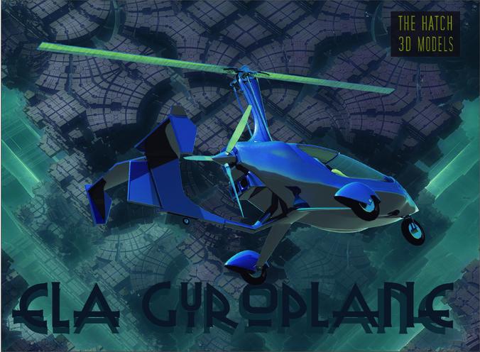 ela gyroplane  3d model obj 3ds fbx dae mtl 1