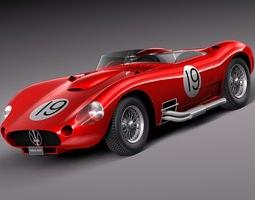 maserati 450s 1956 3d model max obj 3ds fbx c4d lwo lw lws