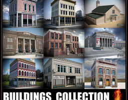Buildings collection 1 3D model