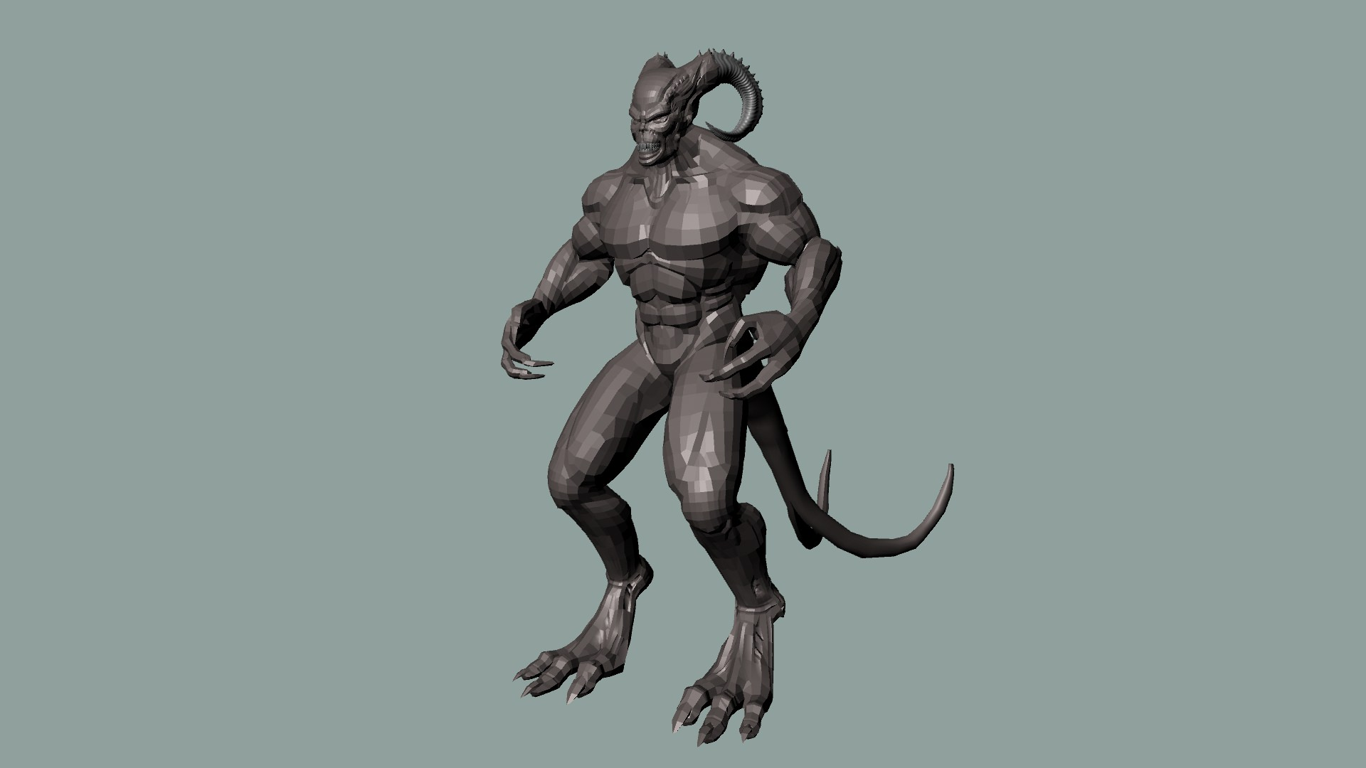 3d Model Monster Vr Ar Low Poly Ma Mb