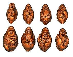 3D print model Eight immortals set