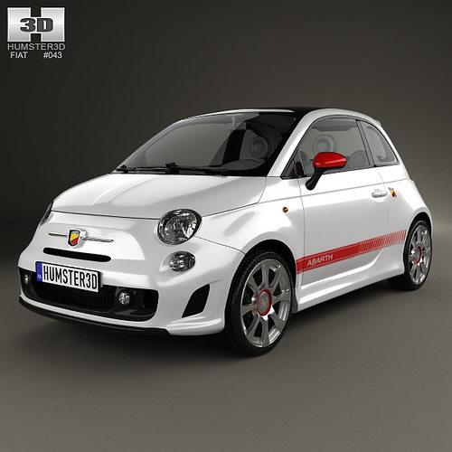 fiat 500 abarth 2012 3d model max obj mtl 3ds fbx c4d lwo lw lws 1