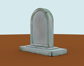 Tombstone 3D asset game-ready