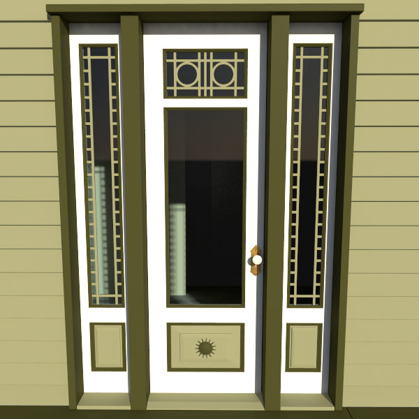 Victorian front door 3d model max obj fbx ma mb for Front door models