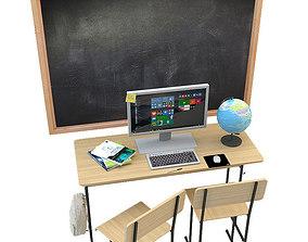 sticker School set 3D