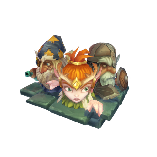 low poly micro hero set 3d model low-poly animated obj mtl ma mb 1