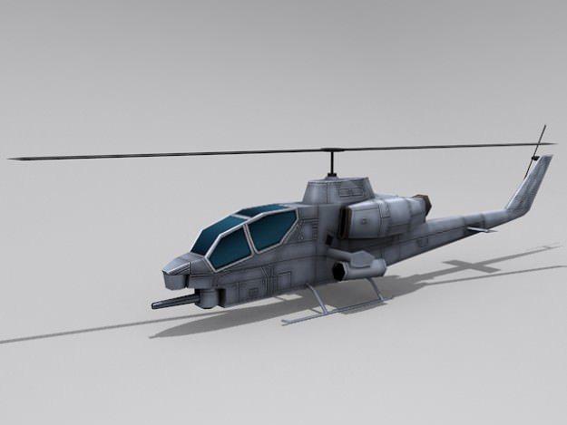 ah-1 cobra 3d model low-poly max obj mtl 3ds fbx dxf tga 1