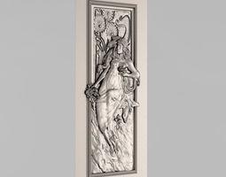 3D print model relief Carved door