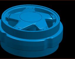 Wheel rim in 1 18 scale 3D printable model