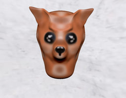 3D print model mask muzzle animal