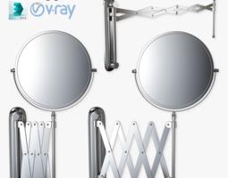 Scissor Wall Mirror Rigged 3D Model