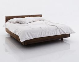White bed linen 3D