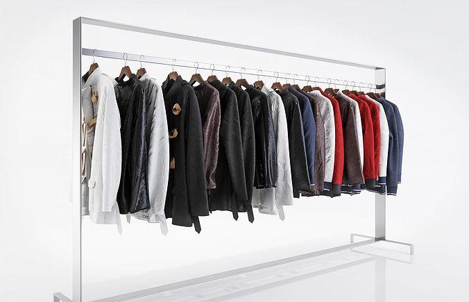 various types of jackets  3d model max obj fbx c4d 1