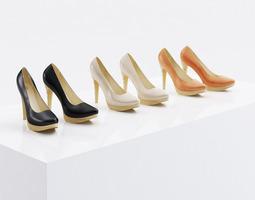 High heel shoes 3D model