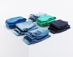 multicolored pants 3d model