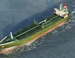 Oil Tanker Vessel 3D asset
