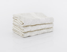 3D model Bundle of small white towels