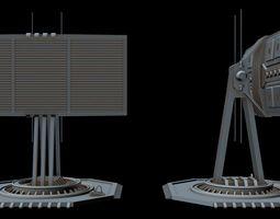 Sci-fi radar 5 3D model