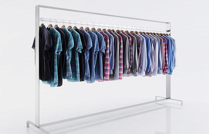 various shirts for men 3d model max obj fbx c4d 1