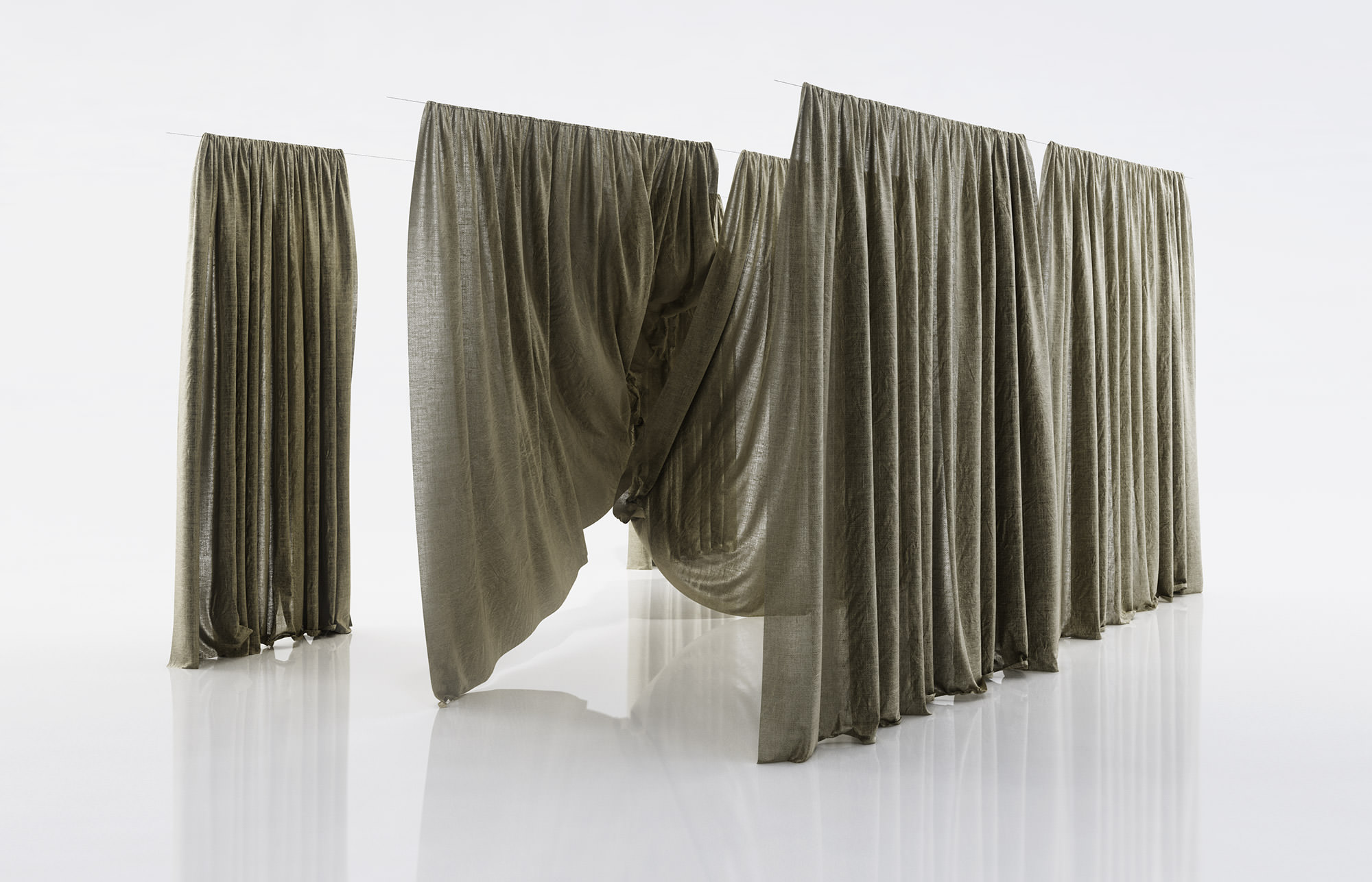 See Through Curtains grey see through window curtains 3d model | cgtrader