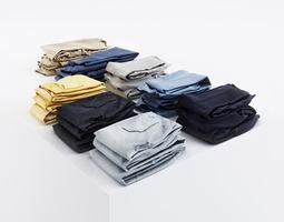 3D model Bundle of casual pants