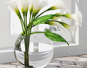 Calla lily centerpiece 3D model