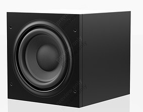 Bowers and Wilkins ASW 608 Black 3D