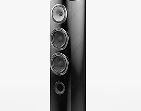 Bowers and Wilkins 804 D3 Black Gloss 3D model