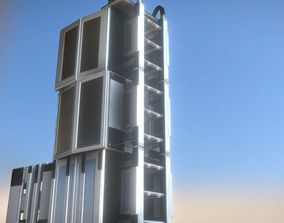 3D model Modular Sci-Fi Ladders Silver