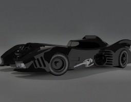 batmobile 3d model max obj 3ds fbx dxf