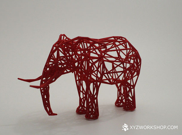 digital safari - elephant small 3d model stl 1